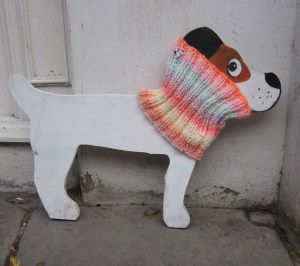 Hand Knitted Posh Dog Snood 025