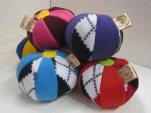 posh dog fleece balls