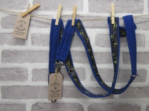Handmade Posh Dog Lead 0042  Double ended - Long Training Lead