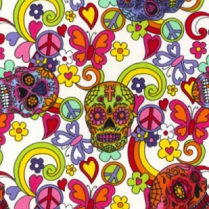 the posh dog clothing company skull fabric