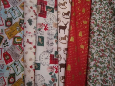 the posh dog clothing company Christmas fabric