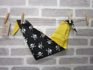 the posh dog clothing company bandanna yellow