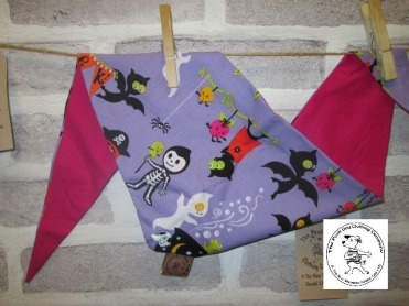 the posh dog clothing company - halloween cartoon purple pink 1